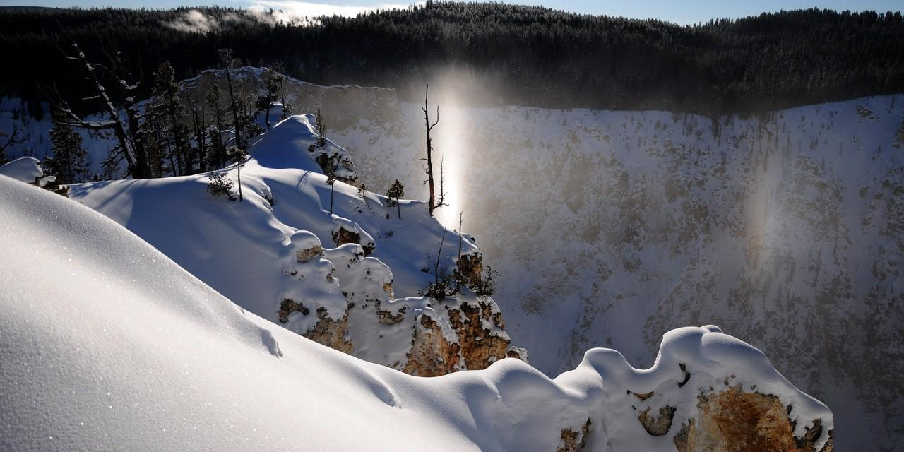 A Sun Pillar at the Grand Canyon of the Yellowstone